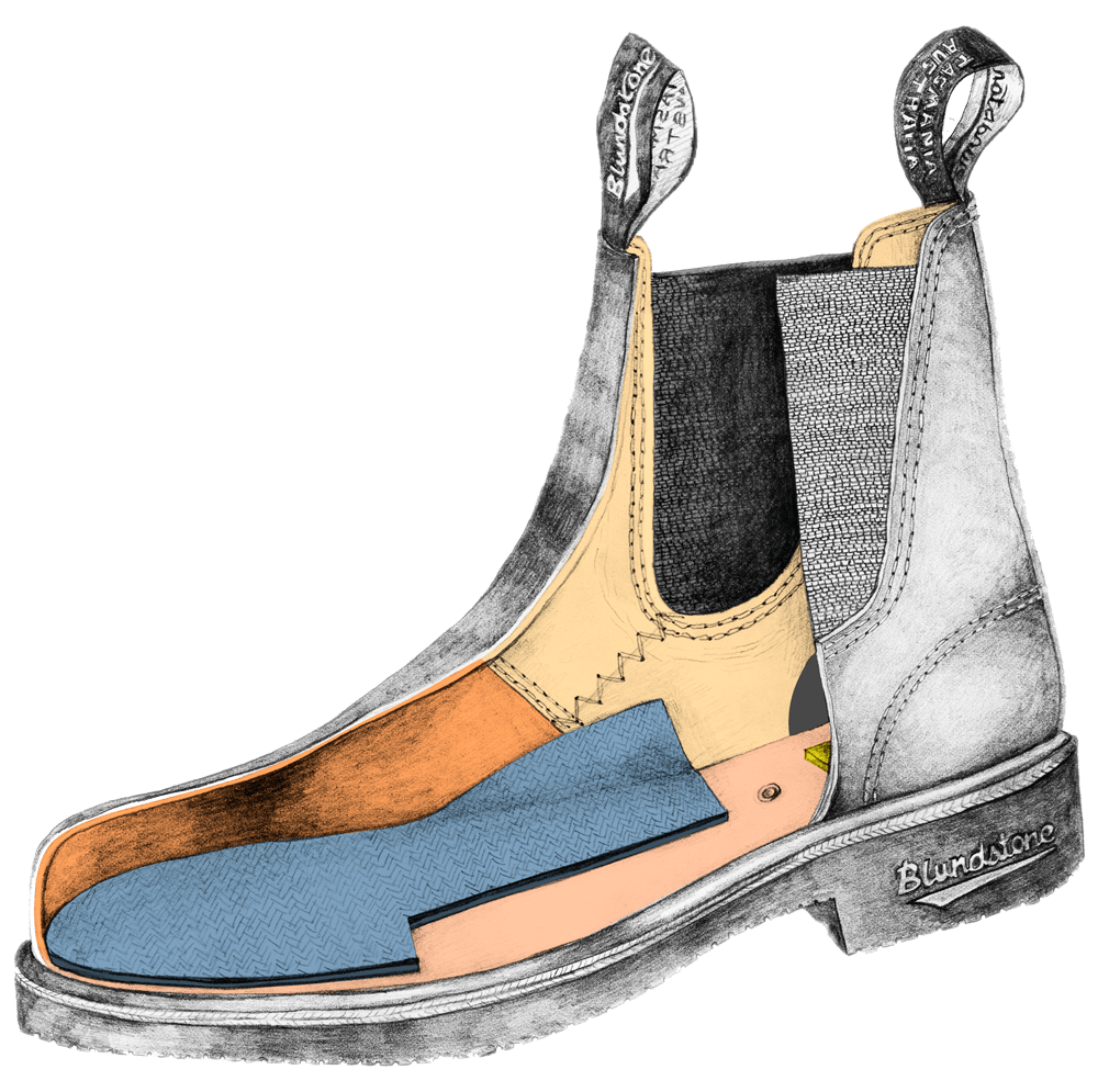 Drawing of a Blundstone Dress series boot