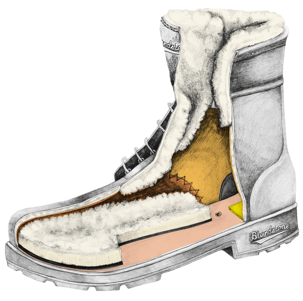 Drawing of a Blundstone Thermals series boot