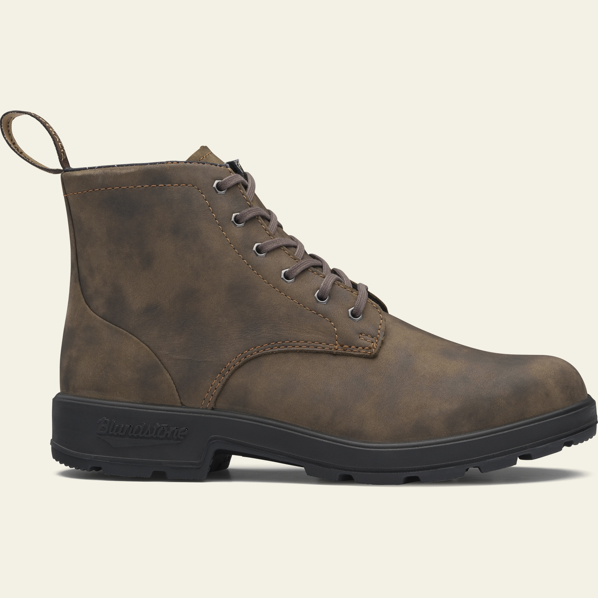 Rustic Brown Premium Leather Lace Up