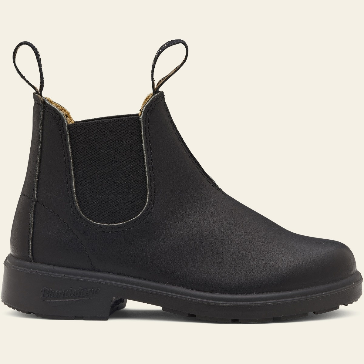 Black Full Grain Leather Chelsea Boots