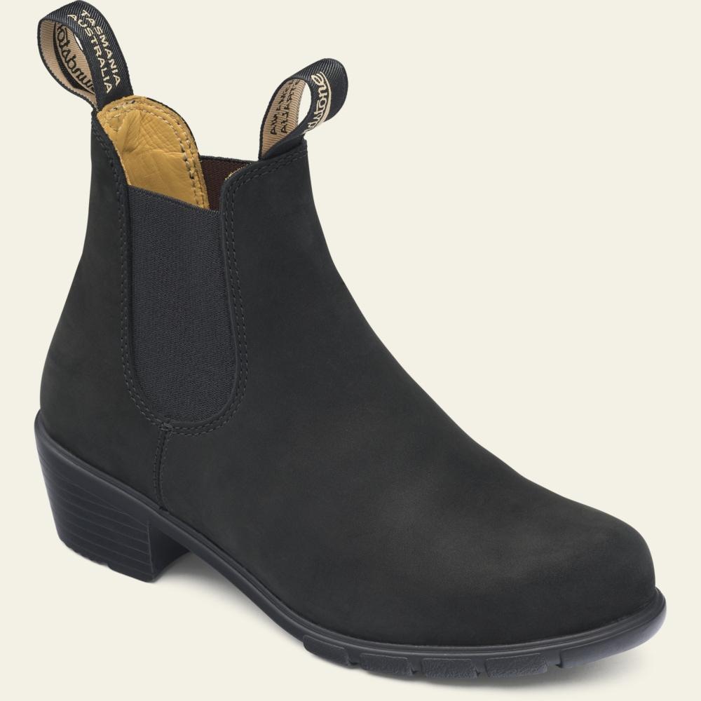 Nubuck Leather Heeled Boots