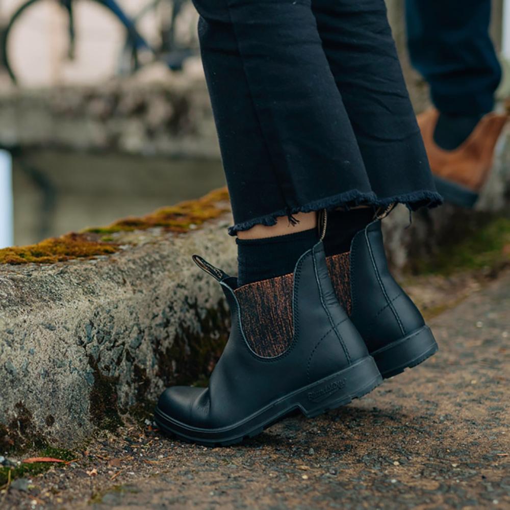 Black Premium Leather Chelsea Boots