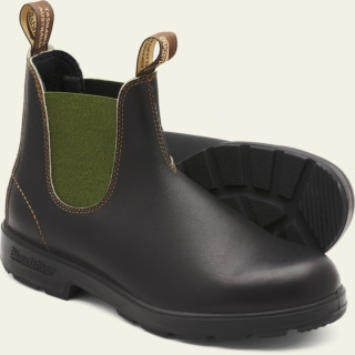 Men's Style 519 pu-tpu-olive-elastic-sided-v-cut_519_M by Blundstone