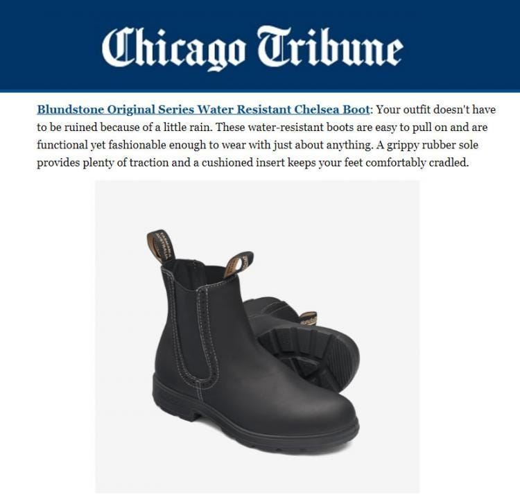 Chicago Tribune Lists Blundstone in Guide to Comfortable Women's Shoes