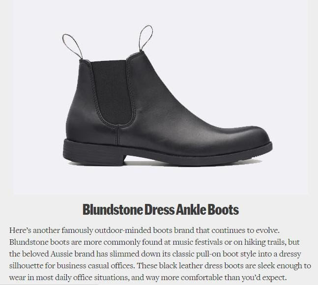 Fatherly Features Blundstone Ankle Boots for Fall