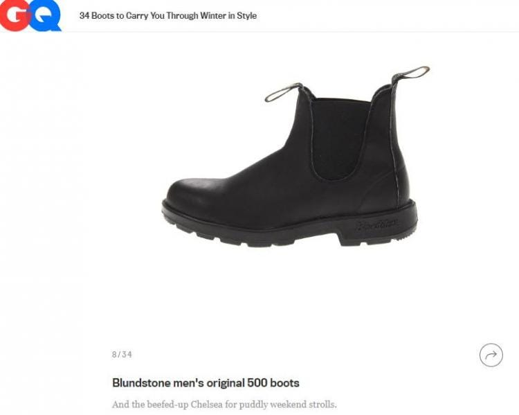 Stylish Blundstone 510 Winter Boots Features in GQ Magazine