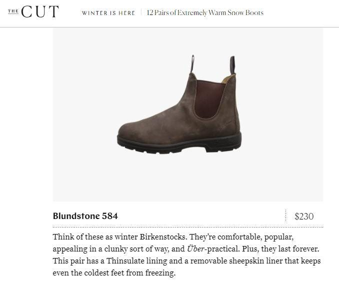 Snow Boots & Winter Boots Featured in NY Mag's The Cut